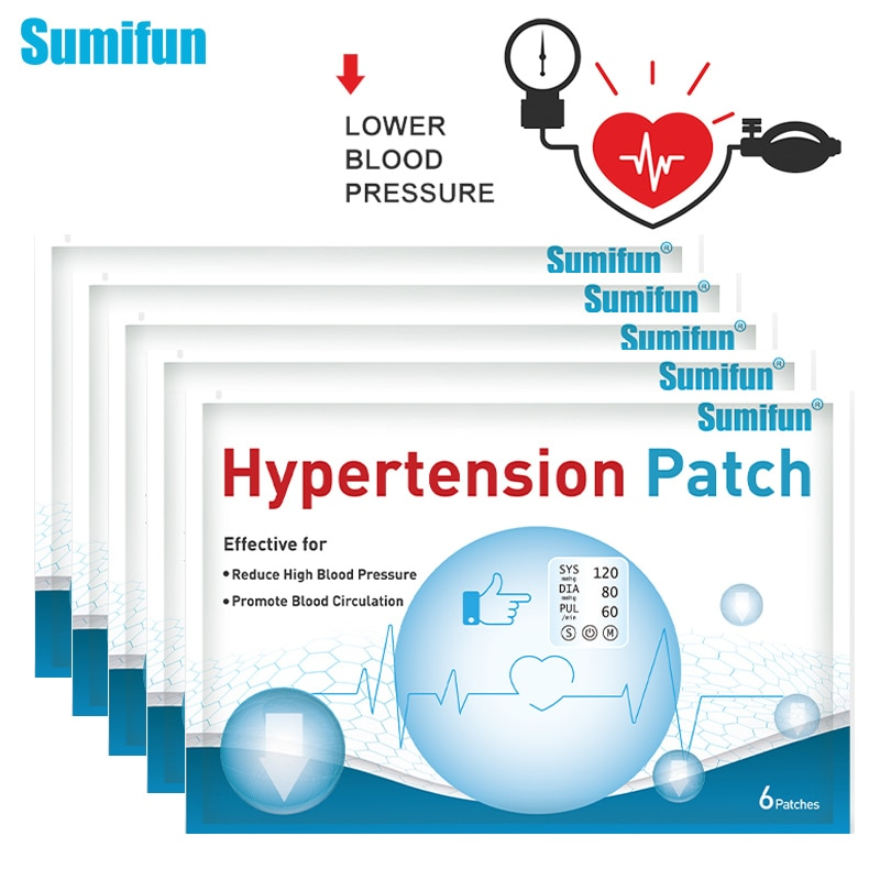 Sumifun 18/36/60pc Hypertension Patch Control High Blood Pressure Plaster Reduce Blood Vessel Herbal Medical Plaster Health Care