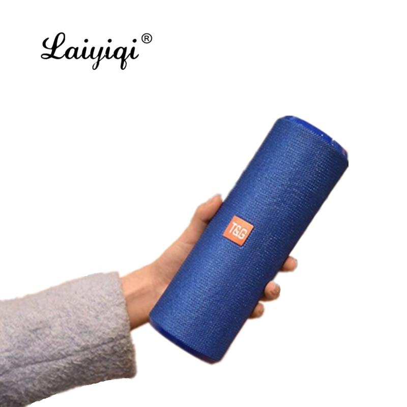Laiyiqi nuevo colorido tela larga columna woofer portátil impermeable Radio FM parlante...