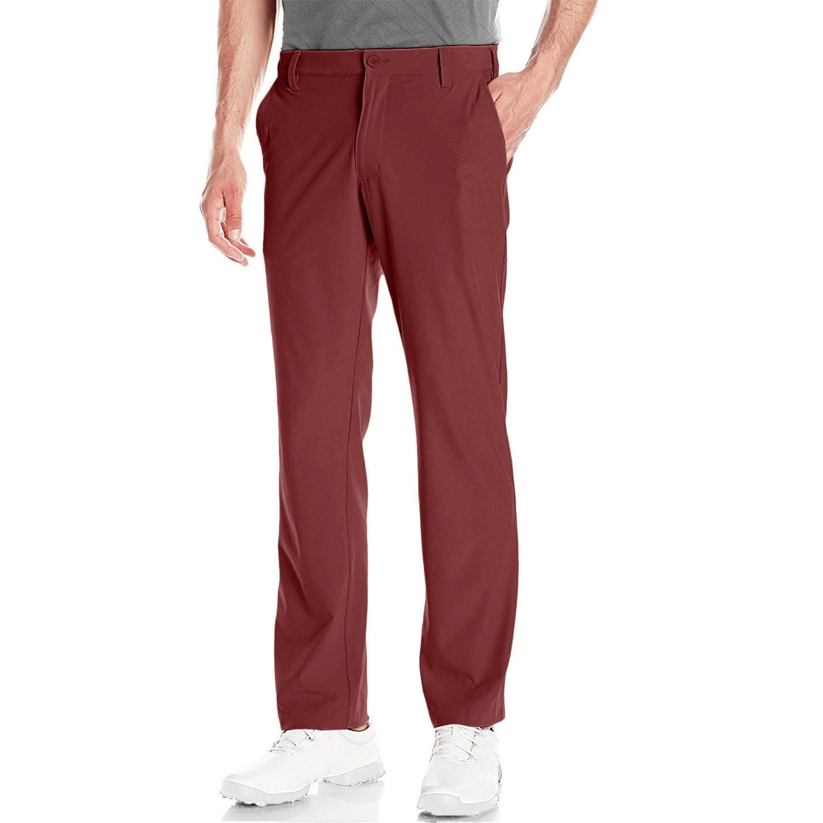 Брюки мужские Стрейчевые для гольфа Lesmart, плоские дышащие повседневные брюки Чино, длинные штаны, сухой крой, повседневные для отдыха, весна-...