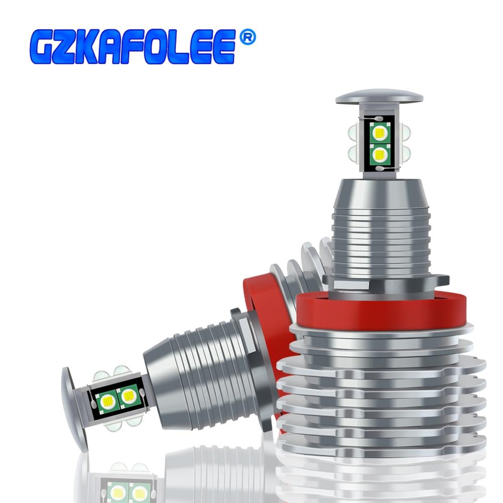 H8/H9/H11 ángulo ojos Anillo de luz LED bombilla 6000K blanco para BMW E82 E87 E88 E90 E91 E92 E93 E60 E61 E63 E64 E84 X1 E70 X5 E89