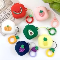 cute fresh fruit silicone cover for samsung galaxy buds live 2020 case wireless bluetooth earphone case portable box accessories