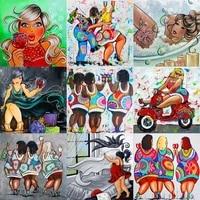 Peinture a lhuile par numeros pour adultes  dessin anime Fat Lady  coloriage par numeros  dessin sur toile  bricolage  decor de maison peint a la main