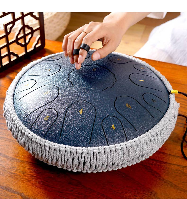 Ethereal Drum 13 Inch 15 Tone Forgetting Worry Drum Music Drums Percussion Mini Electric Drums Instrument Tongue Tambourine