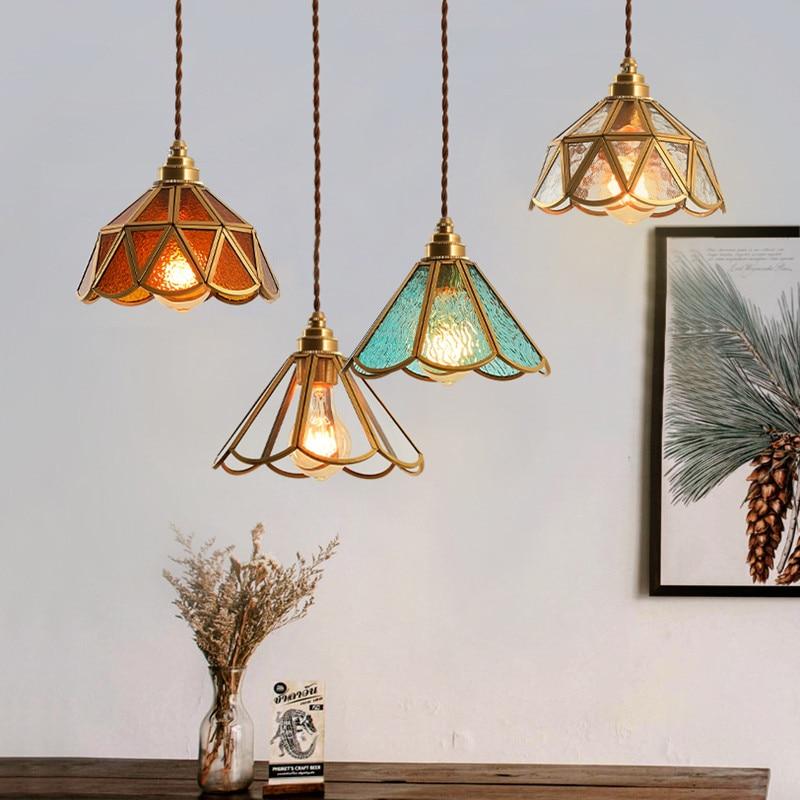 Современные светодиодные подвесные светильники, украшение для спальни, гостиной, лампа для бара, столовой, винтажные стеклянные люстры, осв...