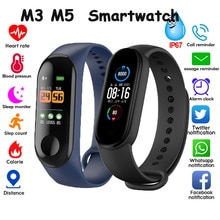 Electronic Smart Watch Women Men Unisex Heart Rate Monitor Fitness Tracker Smartwatch For Android Phone M3 M5 Watches For Xiaomi