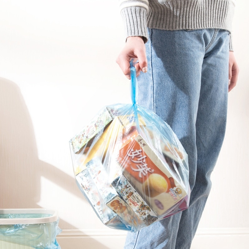 Rubbish Plastic Trash Bags Colorful Household Portable Storage Trash Bags Disposable Toilet Bolsas De Basura Room Tools DM50TB enlarge