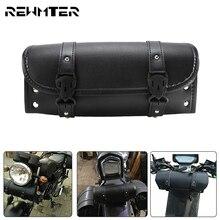 Motorrad Sattel Taschen Universal Satteltaschen Schwarz Werkzeug Seite Tasche Für Harley Für Honda Für KTM Cruiser Bobber Chopper Für Kawasaki