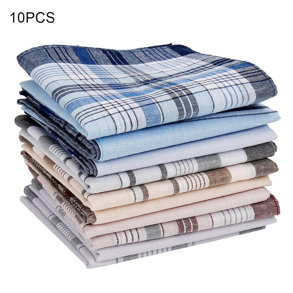 10Pcs/lot Square Multicolor Plaid Stripe Men Women Pocket for Wedding Party Business Chest Towel Handkerchiefs Scarves 38*38cm
