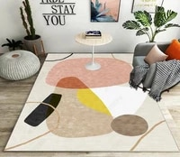 home decoration living room coffee table carpet simple modern light luxury style pattern bedroom bed room floor mat air cushion