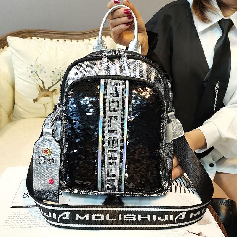 Ita Luxury Brand Women's Backpack Diamond Rivet Leather Shoulder Bag Sac High Quality Rhinestone Big Bolso Bag Pack