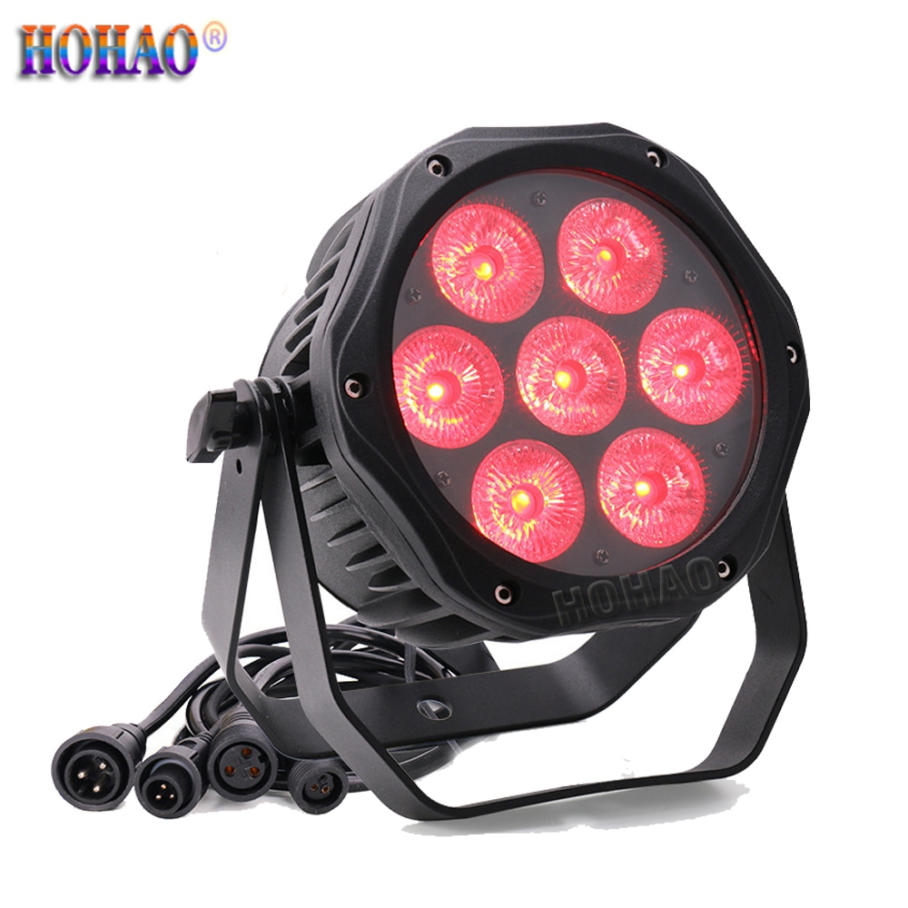 HOHAO News 7x15W RGBWA-UV 6IN1 LED Waterproof Par Lamp IP65 Outdoor Lighting Background  For Cultural Tourism Project