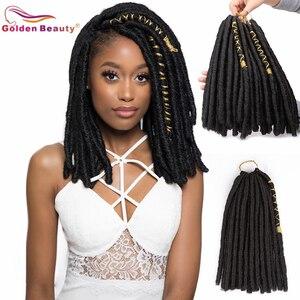 12 дюймов, 20 прядей, мягкие дреды, синтетические волосы для наращивания, вязаные крючком, предварительно плетеные волосы, Золотая красота