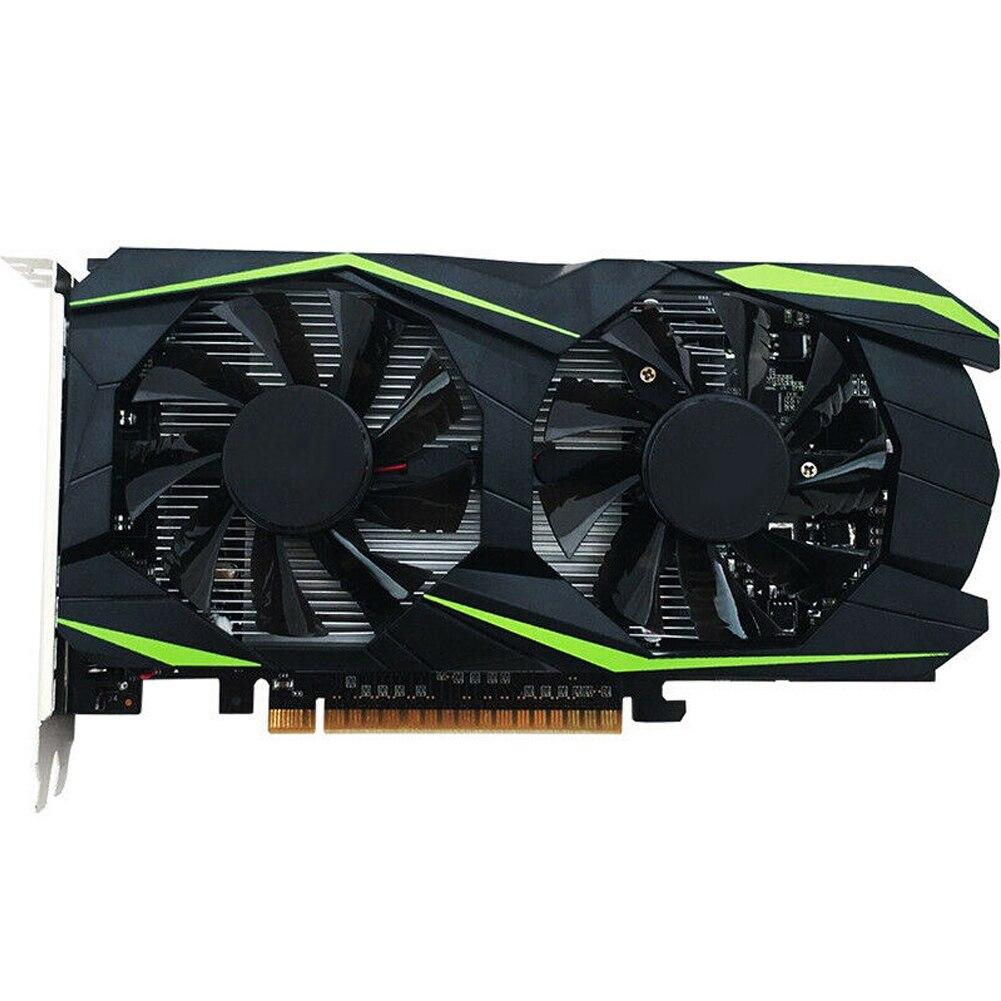 DDR5 Computer Graphics Card Dual Fan Smooth 4GB Gaming Desktop 128bit Energy Saving HDMI Black Metal Accessories Video HD GT960