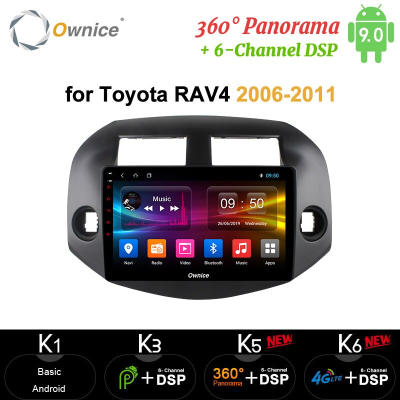 Ownice Octa 8 Core 2 Din Android 9.0 lecteur dautoradio GPS DVR 4G LTE DSP SPDIF carplay pour Toyota RAV4 2007 2008 2009 2010 2011
