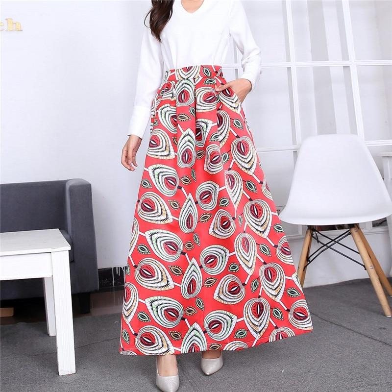 Saia de pavão exótico moda feminina floral impressão tutu saias cintura alta plus size saia plissada longa saia vintage saia feminina