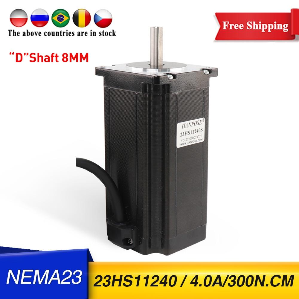 شحن مجاني NEMA23 محرك متدرج 112 مللي متر 4.0A 300N.cm 23HS11240 محرك أسود للروبوت لملحقات الآلات الطبية ثلاثية الأبعاد