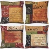 retro letter printing throw pillow living room sofa cushion cover home decor throw pillow decorative pillows