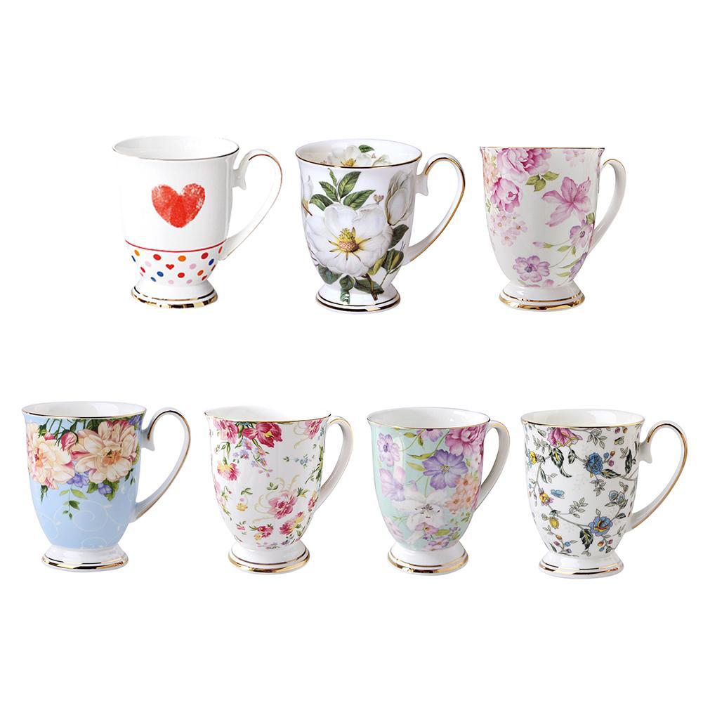 Osso china cafeteira xícara de café, porcelana taza cerâmica copo elegante café caneca presente de casamento copo de café royal dropshipping