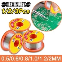 123 pcs desoldering wires braid mechanic rosin core solder wire roll 0 50 60 811 22 mm 6337 flux 2 0 45ft tin wire melt