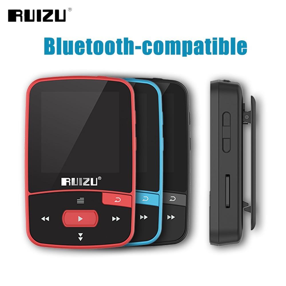 Ruizu-Mini reproductor Mp3 deportivo X50, Hifi, música, Audio, Mp3, con 8GB, compatible con Bluetooth, FM, grabación de pasos, tarjeta TF