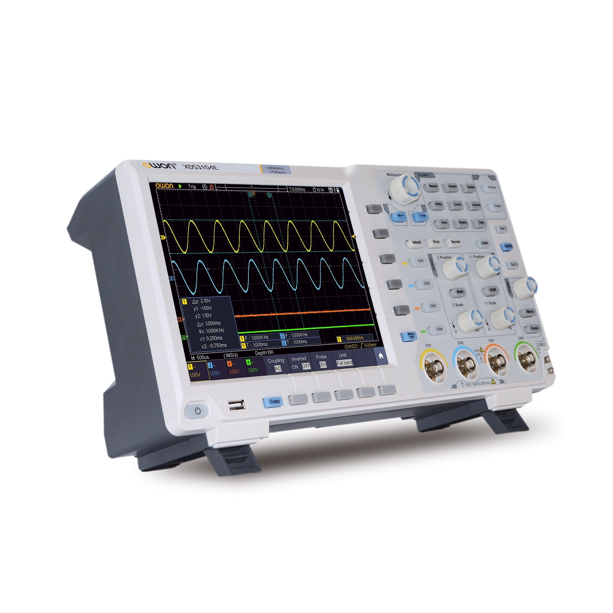 Owon xds3064ae/xds3104ae/xds3204ae/xds3064e/xds3104e/xds3202e/xds3204e osciloscópio