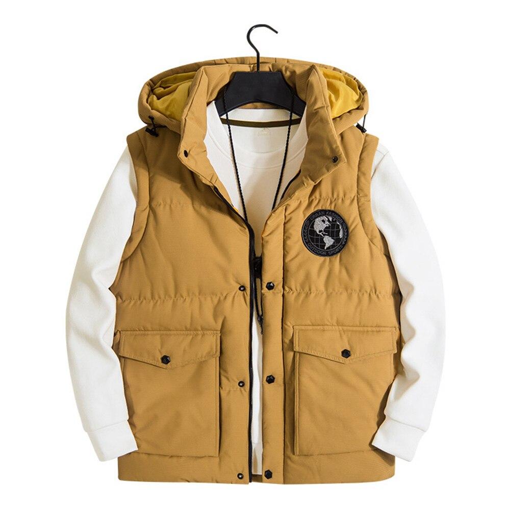 Модная мужская куртка, жилет без рукавов, теплые женские повседневные пальто, мужской жилет, мужской утепленный жилет