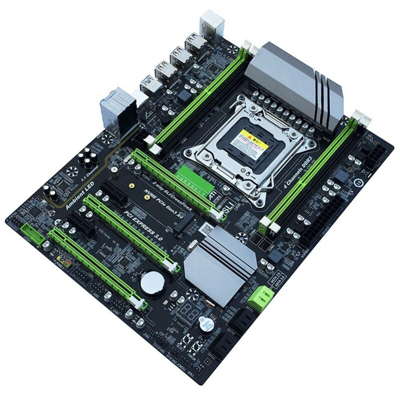 X79T Ddr3 placa base Lga 2011 Cpu ordenador 4 canales soporte para juegos m2 E5-2680V2 I7 Sata 3,0 Usb 3,0 para Intel B