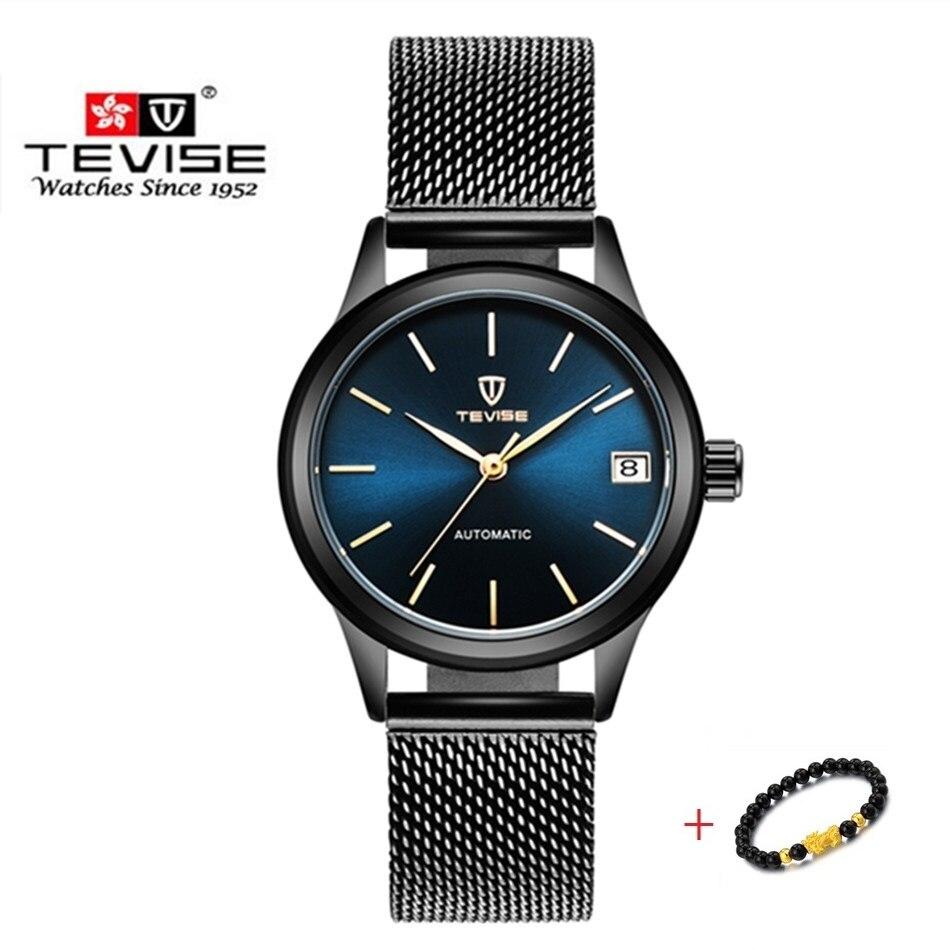 Luxury Brand TEVISE Men Women Watches Automatic Mechanical Bracelet Watch Ladies Waterproof Steel Dr