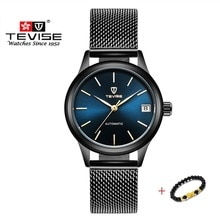 Luxury Brand TEVISE Men Women Watches Automatic Mechanical Bracelet Watch Ladies Waterproof Steel Dr