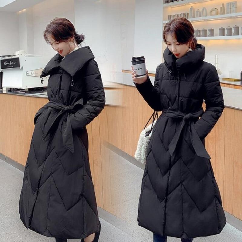 Mid-length Parkas Women's 2021 Winter New Jackets and Coats Slim Temperament Outwear