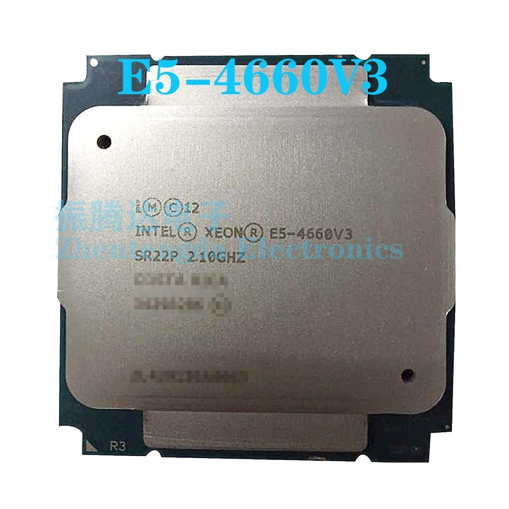 Intel Xeon E5-4660 v3 CPU 2.10GHz 35MB 14 Core 28 Threads LGA 2011-v3 E5-4660V3 CPU Processor