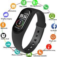 M4 Bracelet intelligent fréquence cardiaque pression artérielle Sport Bracelet étanche montres intelligentes pour iOS Android 2019 nouvelle montre hommes