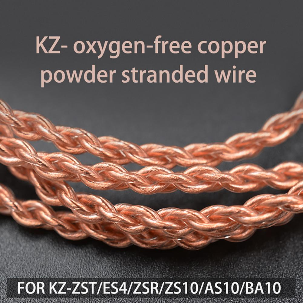 Hot Sale Durable Replacement KZ 0.75mm Gold-plated B/C Pin Earphone Cable for KZ-ZST/ES4 KZ-ZSN With Mic