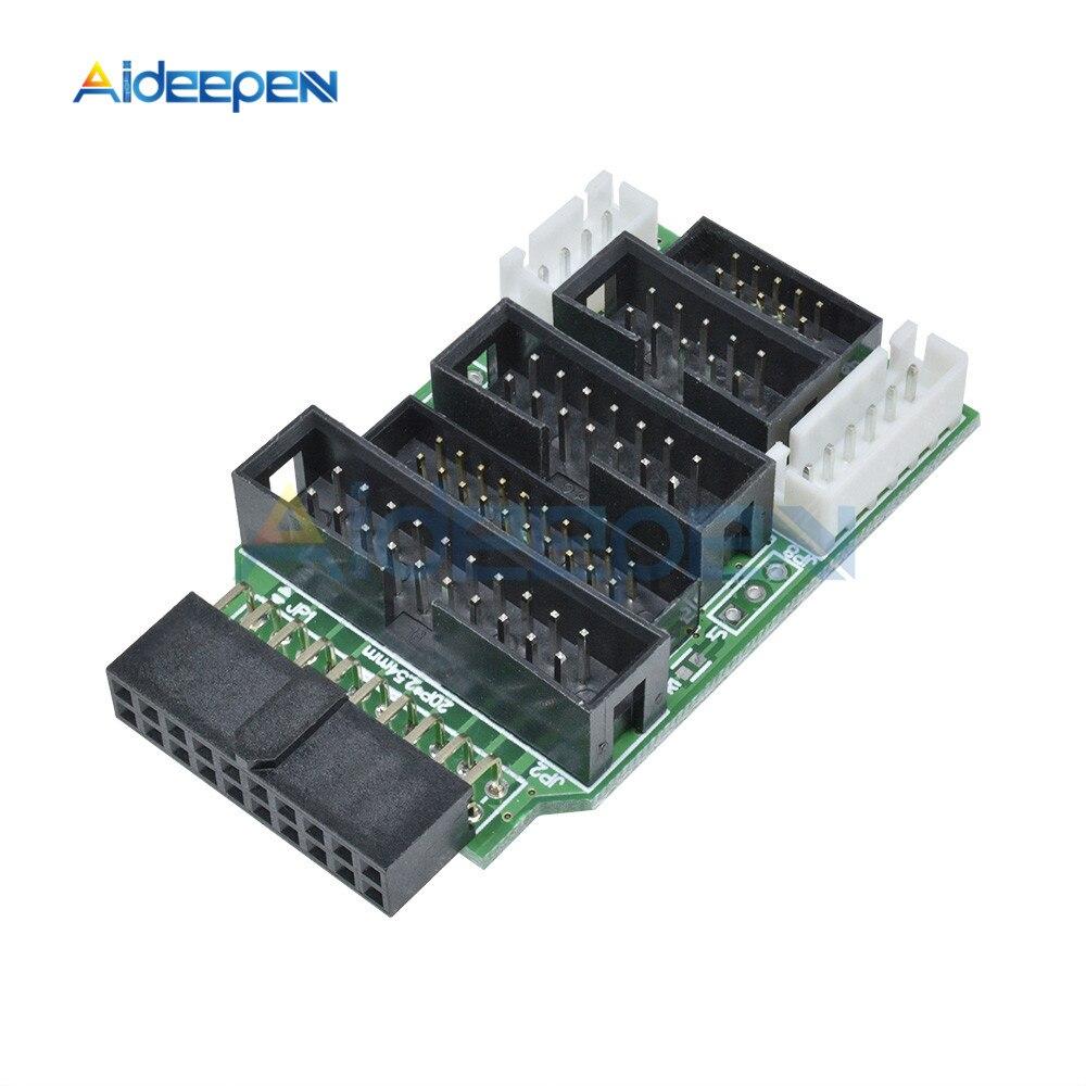 Para J-LINK para ULINK2 emulador V8-ARM JTAG Adaptador convertidor para TQ2440 MINI2440