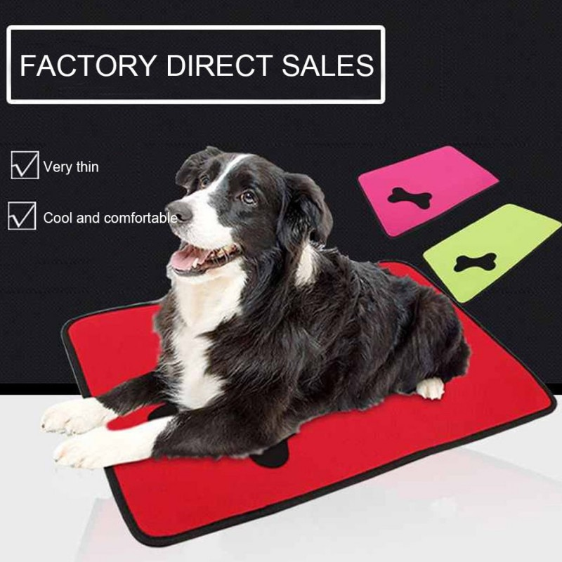 Dog Pad Washable Summer Cooling Mat Cat Dog Beds Pet Ice Cool Cold Silk Cushion Puppy Sleeping Blanket Pet Accessories