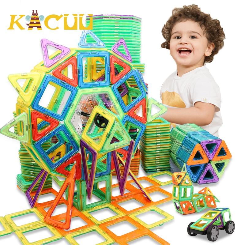 Магнитные блоки большого размера, магнитный дизайнерский Строительный набор, модель и строительные пластиковые магнитные блоки, развивающ...