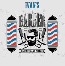 8x8FT Barbershop szary fryzjer słup Vintage Retro wzór ścienny niestandardowe tła zdjęcie tła winylu 240cm X 240cm