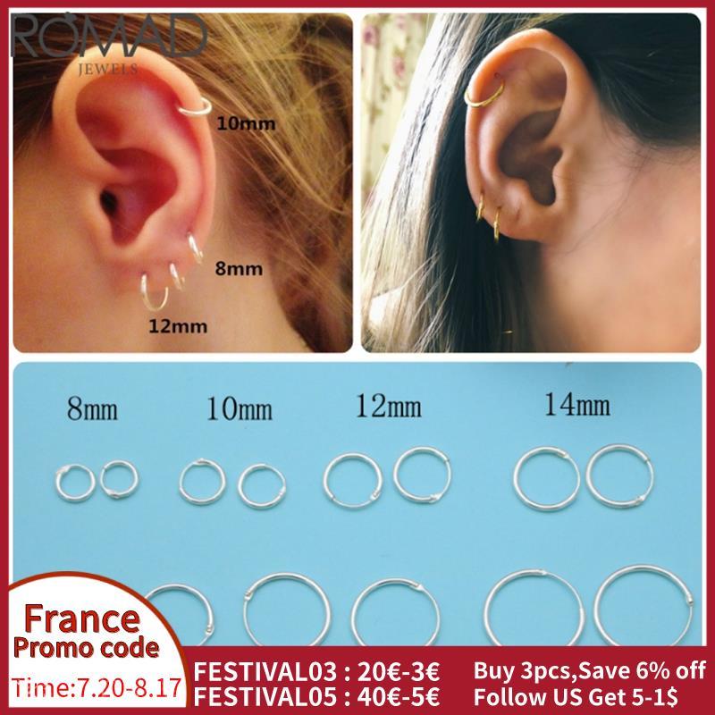 Серьги-romad-925-пробы-серебряные-для-женщин-мужчин-маленькие-серьги-кольца-серьги-кольца-для-ушей-маленькие-серьги-обручи-r5