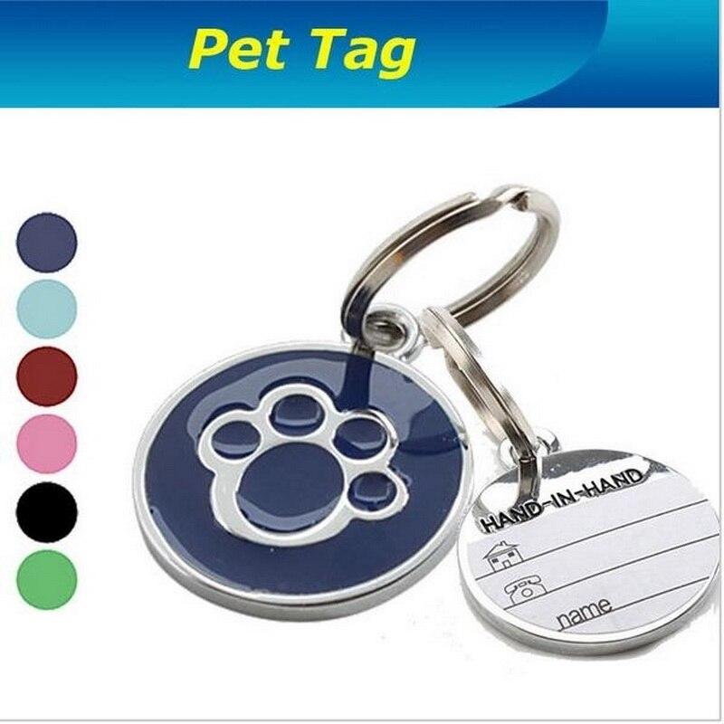 Tarjeta de Identidad para mascota, accesorios para Collar de perro, colgante para mascota, tarjeta decorativa anti-perdida, etiqueta Para Nombre de perro y gato