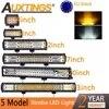 Auxtings 4 5 12 14 17 20 23''inch תלת שורות מטלטלין סוגר Strobe LED אור בר 5 דגם לבן אמבר offroad 4x4 רכב אור 12V 24V
