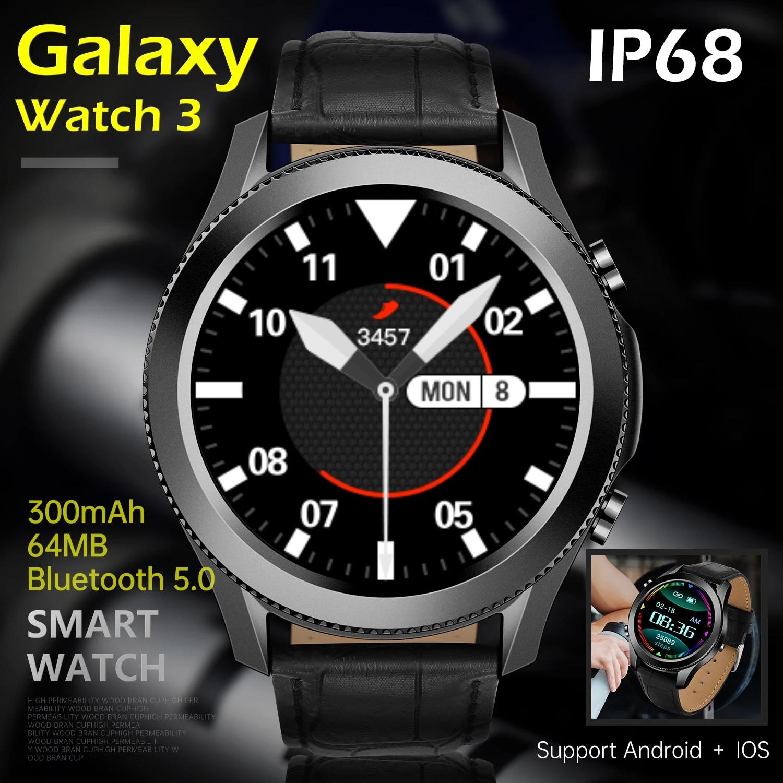 2021 جديد كامل اللمس ساعة ذكية الرجال IP68 مقاوم للماء ل غالاكسي Watch3 بلوتوث دعوة الرياضة اللياقة البدنية ساعة ذكية IOS أندرويد