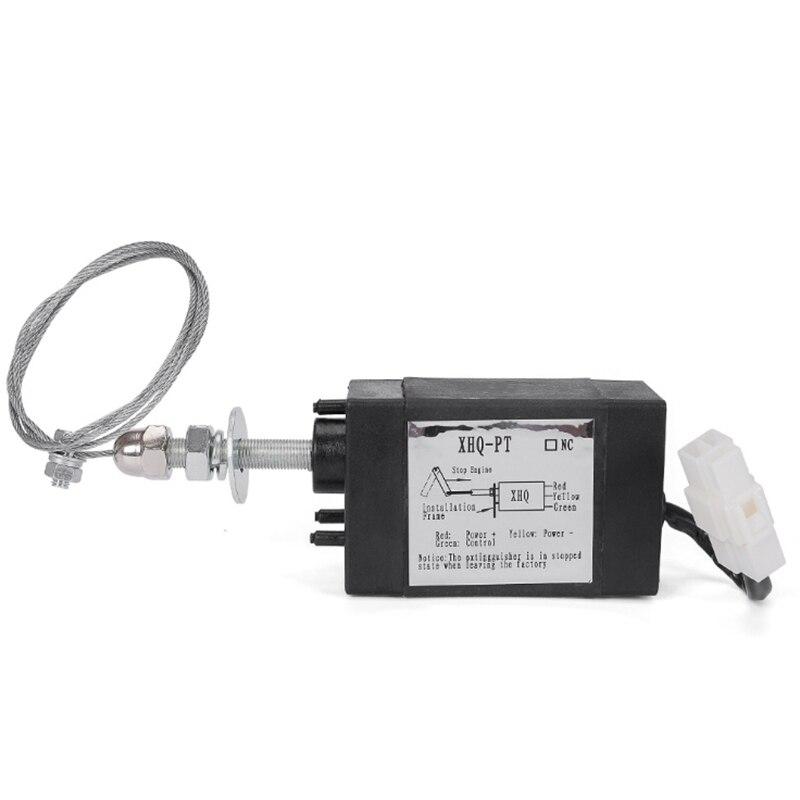 Topo!-normalmente aberto dc 12v motor chama para fora dispositivo de parada do motor válvula solenóide XHQ-PT power on pull tipo flameout netic