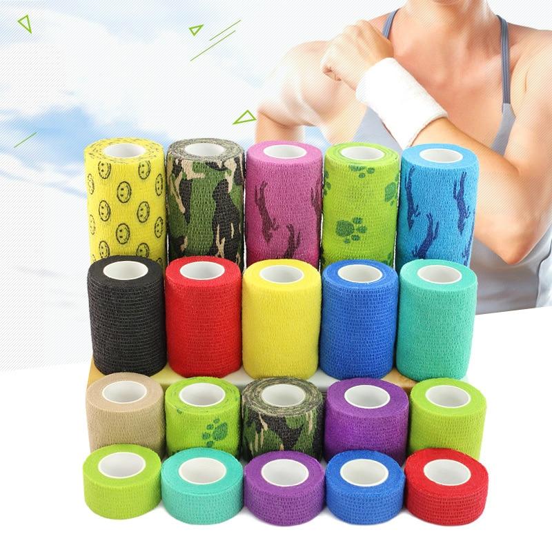 4.5m Length Athletic Wrap Tape Elastic Bandage Self Adhesive Sports Safety Elastoplast Adhesive Wrap