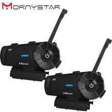 2 sztuk MORNYSTAR R2 1200m kask motocyklowy z bluetooth grupy interkom zestaw słuchawkowy MP3 głos radia FM polecenia zestaw głośnomówiący bt interphone