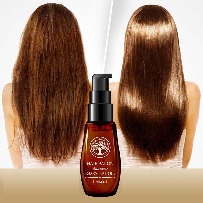 Aceite Esencial de argán puro para el cabello tipos de cabello seco cabello multifuncional caliente y tratamiento del cuero cabelludo cuidado del cabello marroquí TSLM1