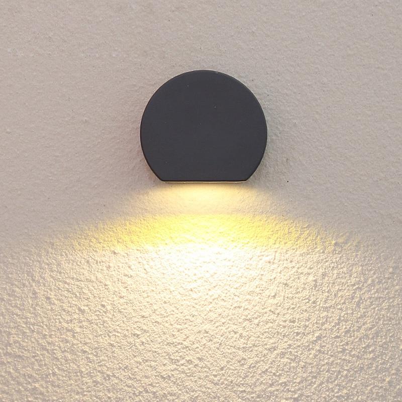 Outdoor Waterproof LED Wall Lamps AC85-265V Aluminum Courtyard Garden Porch Corridor Lights retro wall lamp