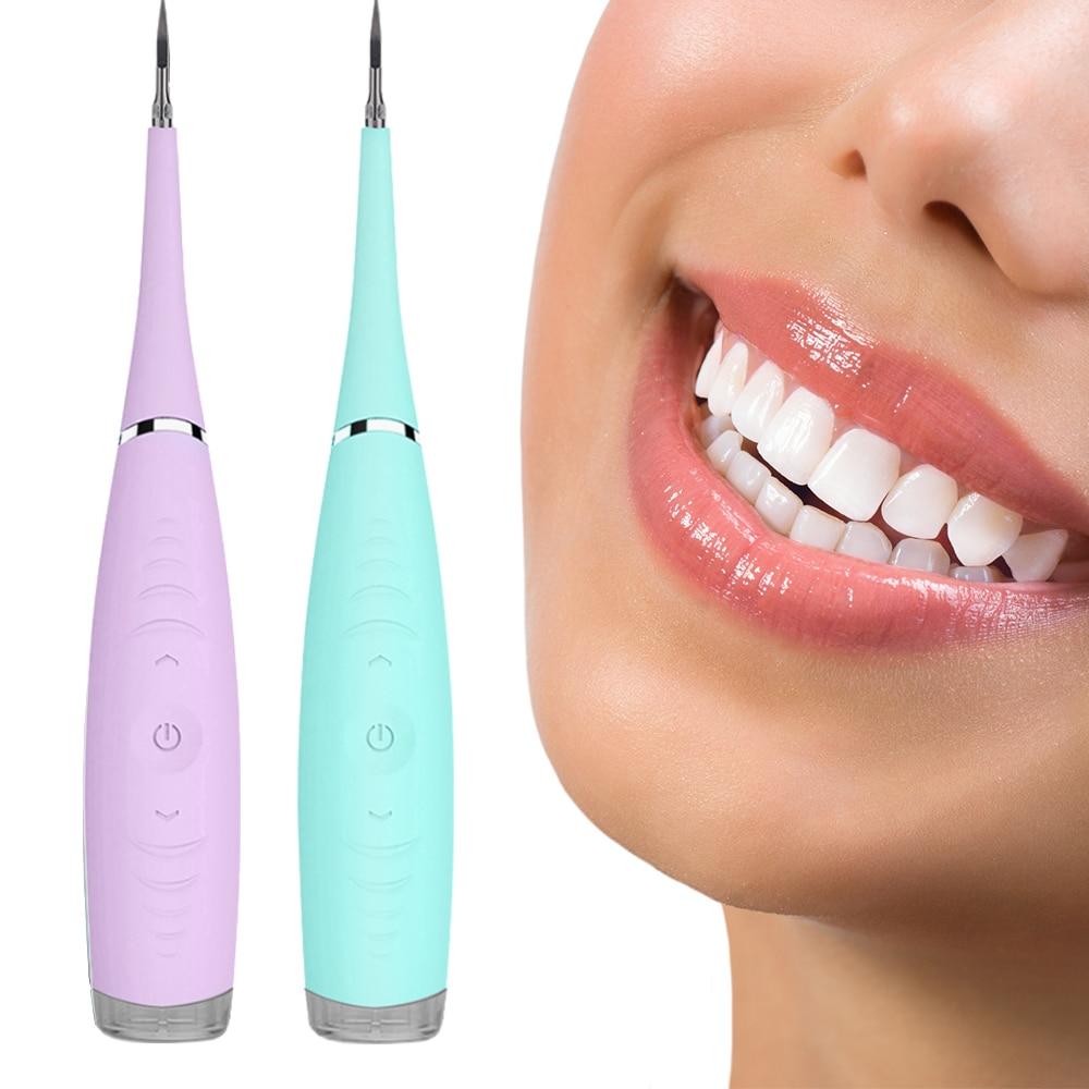 Ultrasonic Sonic Dental Scaler Calculus Plaque Remover Tool Kit Tooth Stains Tartar Cleaner Dentist Whiten Teeth Health Hygiene