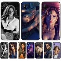 jennifer lopez sexy phone case for xiaomi redmi 7 9t 9se k20 mi8 max3 lite 9 note 8 9s 10 pro soft silicone shell cover funda