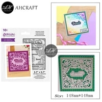 ahcraft square sose frame metal cutting dies for diy scrapbooking photo album decorative embossing stencil paper cards mould