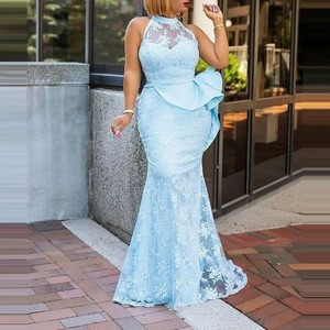 Custom Made Aso Ebi Elegant Prom Dresses With Applique abiye vestado de fiesta 2021 Long Prom Dress Ruffles Peplum Sheer